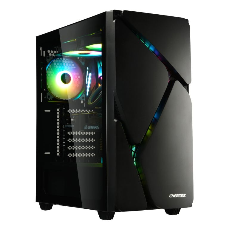冰曜石 MarbleShell MS30 ATX RGB 電腦機殼-黑色-1