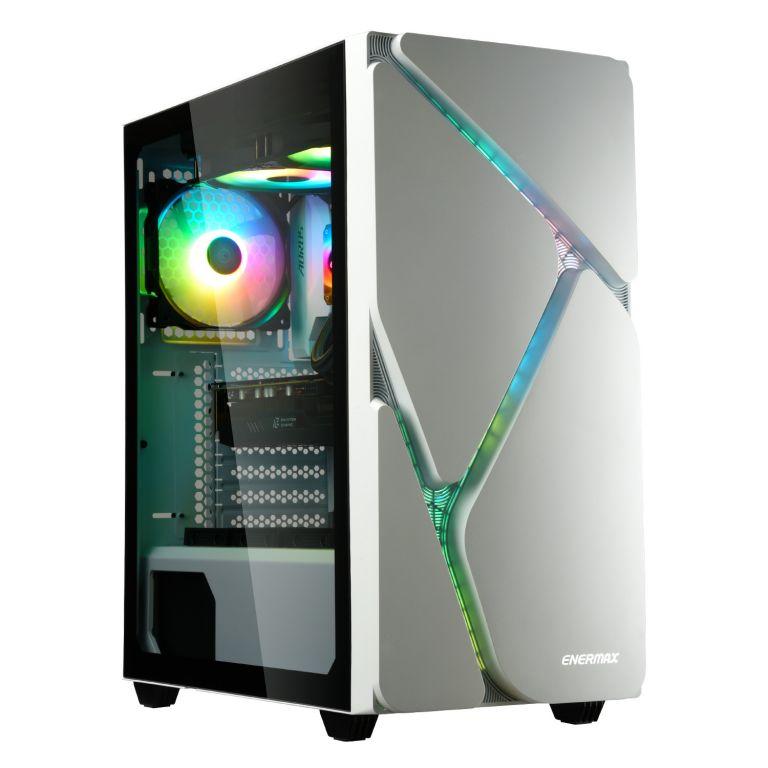 冰曜石 MarbleShell MS30 ATX RGB 電腦機殼-白色-1