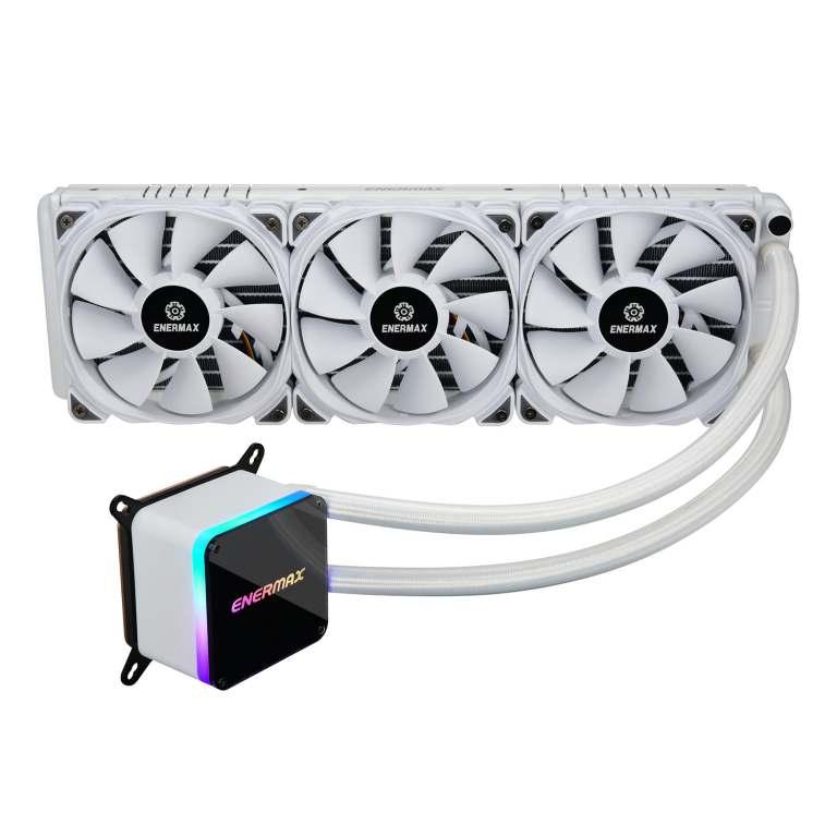 LIQTECH II series 360mm CPU liquid cooler- white-1