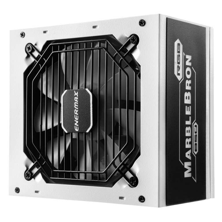 MARBLEBRON 850 Watt 80 PLUS Bronze Semi-Modular RGB Power Supply-white-1